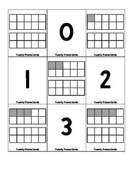 Twenty Frame Cards