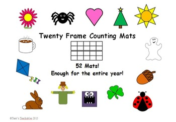 Twenty Frame Counting Mats