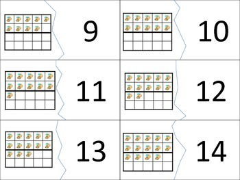 Twenty Frame Match Number Puzzles