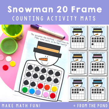 Twenty Frame Snowman Play Doh Mats