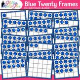 Blue Twenty Frames Clip Art: Place Value & Number Sense {Glitter Meets Glue}