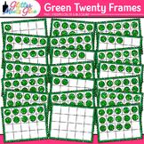 Green Twenty Frames Clip Art {Teach Place Value, Number Se