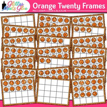 Orange Twenty Frames Clip Art | Teach Place Value, Number Sense, & Fact Fluency