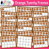 Orange Twenty Frames Clip Art {Teach Place Value, Number S