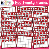 Red Twenty Frames Clip Art: Place Value & Number Sense {Glitter Meets Glue}