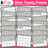 Silver Twenty Frames Clip Art: Place Value & Number Sense {Glitter Meets Glue}