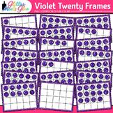 Violet Twenty Frames Clip Art {Teach Place Value, Number S