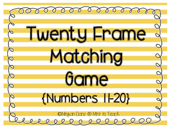 Twenty Frames Matching Game