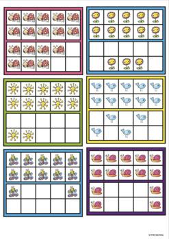 Twenty Frames Math Game - Spring Frame War