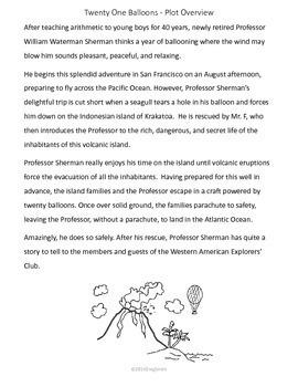 Twenty One Balloons Novel Study