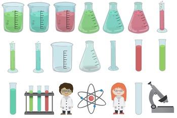 Twenty One Science Lab, Clip Art Accompanied by Two Little Scientist
