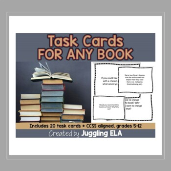 Twenty Task Cards That Can Be Used With Any Book