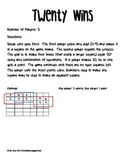 Twenty Wins! A mathematical reasoning game
