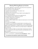 Twenty Writing Rules Handout