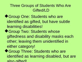Twice Exceptional Students-- Who Are They? How Do We Best Educate Them?