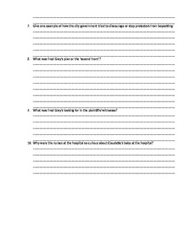 Twice Toward Justice - Chapter 8 Questions and Vocabulary Activity