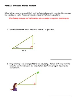 Twig-onometry Project:  Using Right Triangle Trig to Measure Indirectly