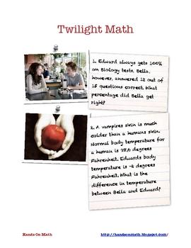 Twilight Math Word Problems