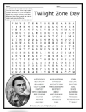 TWILIGHT ZONE DAY Word Search Puzzle Handout Fun Activity