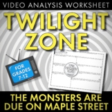 """Twilight Zone """"Monsters Are Due on Maple Street"""" Media Ana"""