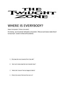 Twilight Zone Season One Episode 1: Where is Everybody?