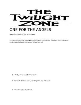 Twilight Zone Season One Episode 2: One for the Angels
