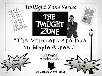 Twilight Zone Unit Resource Bundle 2: 4 Episodes Rod Serling Common Core