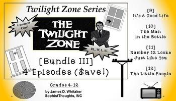 Twilight Zone Unit Resource Bundle 3: 4 Episodes Rod Serling Common Core