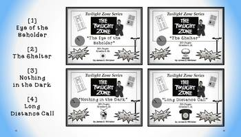 Twilight Zone Unit Resource Bundle 1: 4 Episodes Rod Serling Common Core