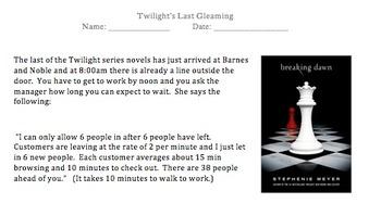 Twilight's Last Gleaming- Problem Solving