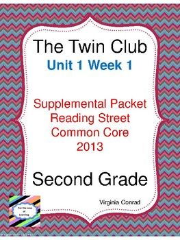 Twin Club:  Second Grade Reading Street Supplemental Packet