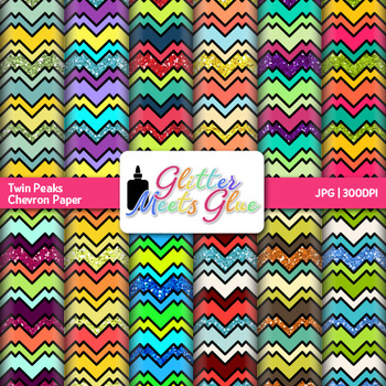 Twin Peaks Chevron Paper {Scrapbook Backgrounds for Task Cards & Flip Charts}