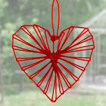 Twine Heart craft for Valentine's Day