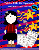Twinkle Little Star Uppercase and lowercase Worksheet Bundle