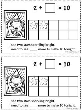 Twinkle, Twinkle, 10 Little Stars ( A Make 10 Emergent Reader)