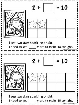 Twinkle, Twinkle, 10 Little Stars ( A Make 10 Emergent Reader)