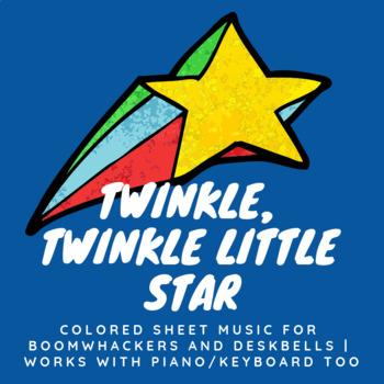 Twinkle Twinkle (Colored Sheet Music Worksheet)