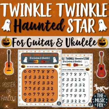 Twinkle Twinkle HAUNTED Star! Halloween/Minor Key Version for Ukulele & Guitar!