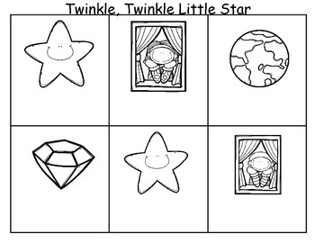 Twinkle Twinkle Litte Star Sequencing Activities