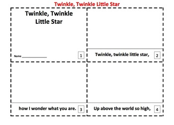 Twinkle, Twinkle, Little Star 2 Emergent Reader Booklets