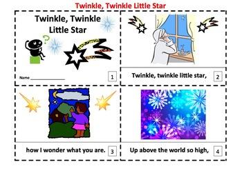 Twinkle, Twinkle, Little Star 2 Emergent Reader Booklets