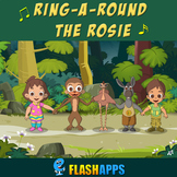 Ring-A-Round The Rosie (with lyrics) | Nursery Rhymes by E