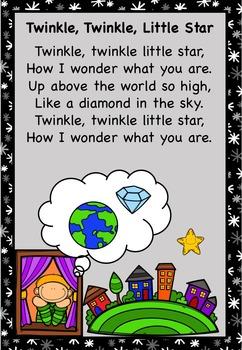 Twinkle, Twinkle Little Star Nursery Rhyme Pack AUS UK