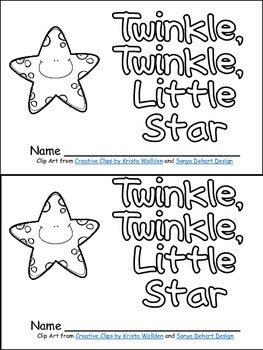 Twinkle, Twinkle Little Star Book, Poster, & MORE - Kindergarten Nursery Rhymes