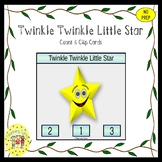 Twinkle Twinkle Little Star Count and Clip Task Cards