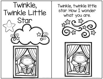 Twinkle Twinkle Little Star Interactive Book and Questions