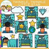 Twinkle Twinkle Little Star Nursery Rhyme Clip Art