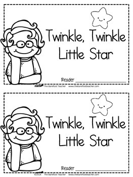 Twinkle, Twinkle, Little Star Nursery Rhyme Emergent Reader & Class Poster