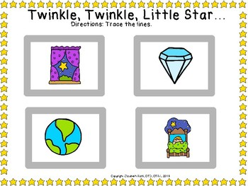 Twinkle, Twinkle, Little Star PLAY DOUGH & TRACING prek preschool k12 SPED OT