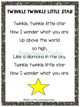 Twinkle Twinkle Little Star - Poetry Packet